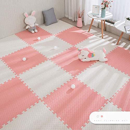 ACARYI Baby Puzzle-Matten für Kinder Spielteppich Interlocking Exercise Fliesen Teppiche Boden Fliesen Spielzeug Teppich weichen Teppich Klettern Eva-Schaum-Pad (Pink,24 Pieces)