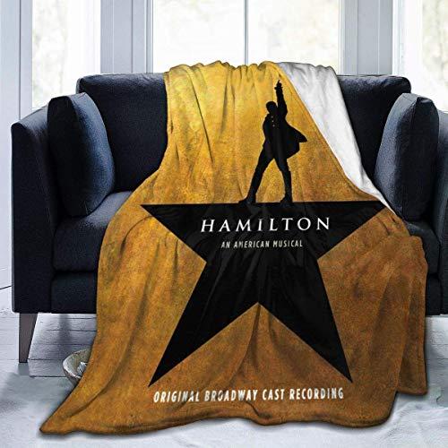wteqofy Ynb Art Hamilton Ultraweiche Micro Fleece Flanelldecke Klimaanlage Überwurfdecke für Couch Wohnzimmer Schlafzimmer Bett Reise 80 'X60