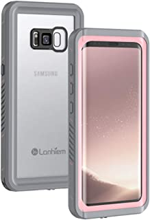 Lanhiem Galaxy S8+ Plus Case, IP68 Waterproof Dustproof Shockproof Case with Built-in Screen Protector, Full Body Sealed Underwater Protective Cover for Samsung Galaxy S8 Plus (Pink)