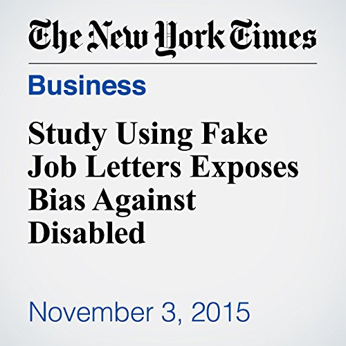 Study Using Fake Job Letters Exposes Bias Against Disabled cover art