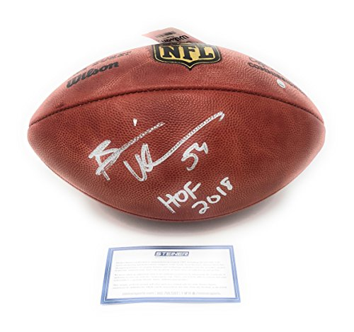 Brian Urlacher Chicago Bears Signed Autograph Authentic NFL Duke Football HOF 18 Inscribed Steiner Sports Certified