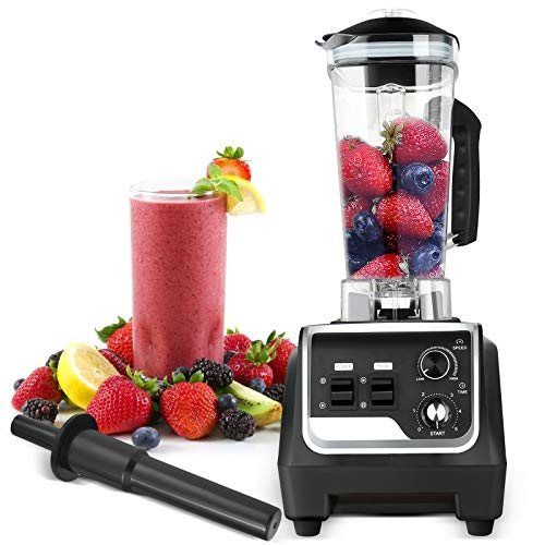 TELAM Licuadora Multifuncional, licuadora de 2 litros, licuadora de Tarro de 2200 W, licuadora de Vegetales, procesador de Alimentos, Frutas, Batidos de Hielo automáticos, sin BPA, 48,000 RPM/min