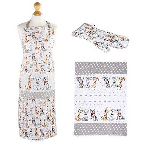 in Cotone Regali per Amanti di Gatti e Animali Motivo Gatti con Tasche SPOTTED DOG GIFT COMPANY Grembiule da Cucina da Donna