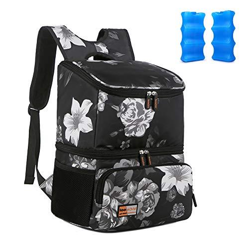 Mochila de pañales de gran tamaño mochila de la bomba de pecho mochila de conservación de leche materna mochila de botella mochila