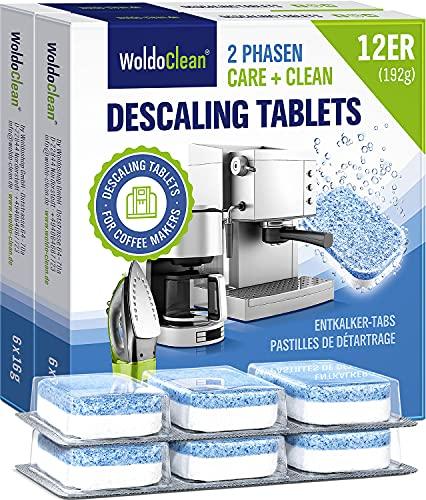 Entkalkungstabletten 2in1 für Kaffeevollautomat 12x 16g - zur Reinigung und Entkalkung von Kaffeemaschinen