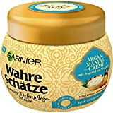 Garnier Wahre Schätze Cremige Tiefenpflege-Maske, Haarkur mit Arganöl aus Marokko, Haarpflege für trockenes Haar, 300 ml