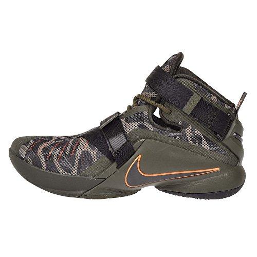 Nike Men's Lebron Soldier IX PRM, Cargo Khaki/Black-Sequoia, 14 M US