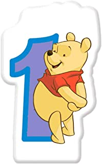 Winnie The Pooh Numeral Candle No. 1
