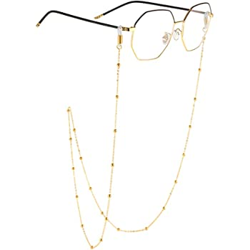 Kalevel Eyeglass Holder Necklace Eyeglass Chain Beaded Glasses Sunglasses Chain  Eyeglass Chains and Cords for Women Gold at Amazon Women's Clothing store