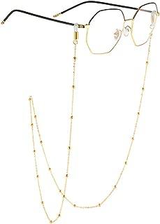 18K Gold Plated Eyeglass Chain Sunglasses Eyewear Strap Holder Reading Glasses Retainer for Women