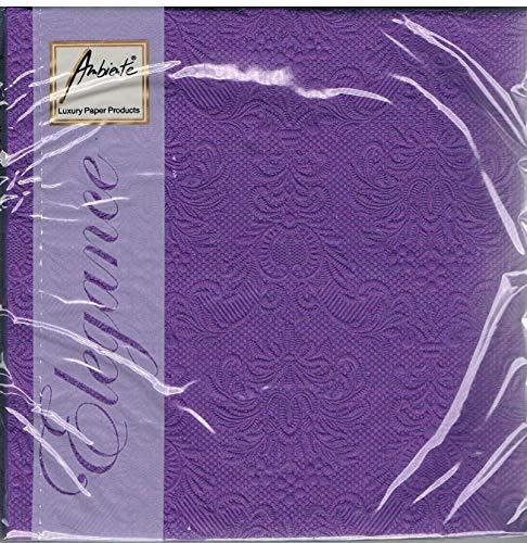 Ambiente - Servietten - Elegance - geprägt - purple / lila