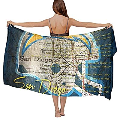 Stylish Shawls Wrap - Wedding Evening Party Swimwear Shawl Silky Feel Romantic Cover Up Long Summer Elegant Cape Sunscreen Paisley Scarf - San Diego Chargers Vintage Logo Scarf