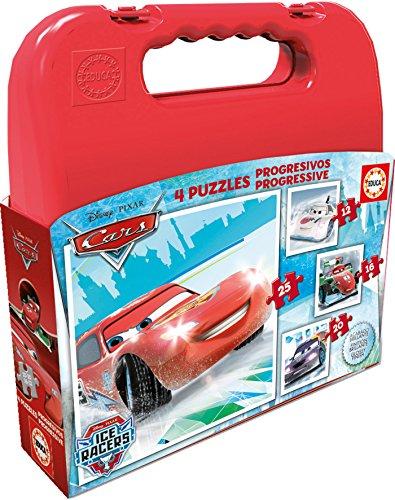 Educa Borrás Cars - Maleta con Puzzles progresivos, 12-16-20-25 16506.0