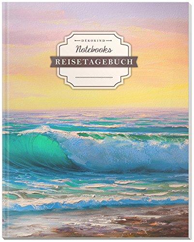 DÉKOKIND Reisetagebuch zum Selberschreiben   DIN A4, 100+ Seiten, Register, Vintage Softcover   Auch als Abschiedsgeschenk   Motiv: Ölgemälde