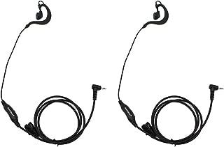 GoodQbuy 2pcs Clip Ear Headset/Earpiece Mic for Uniden GMR 2 Two Way Radio Walkie Talkie