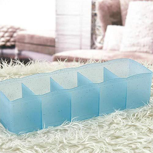 5 Grid Ondergoed en sokken Kledingkast Opbergdozen Organizer Voor Woemn Girls Sock Closet Organizer Home Room Container