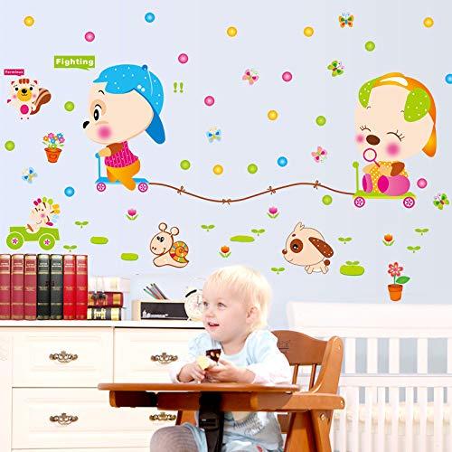 Colorida infancia sala de entrada de la sala de estar sala de jardín de infantes escuela y otras pegatinas decorativas de pared 60X90cm