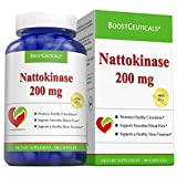BoostCeuticals Nattokinase 100 200 mg Vegan No Additives 4000FU Supplement – Non GMO Gluten Free Pure Natural Blood Thinner (Over 3 Months Supply)