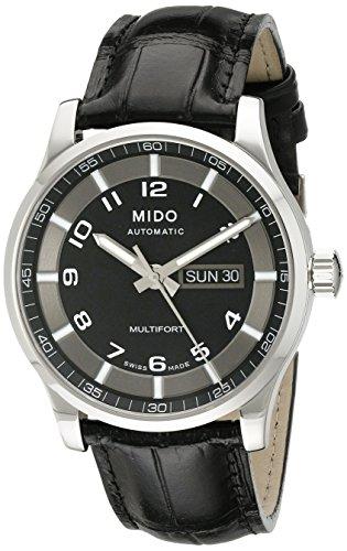 Mido Herren-Armbanduhr XL Multifort Analog Automatik Leder M0054301605280