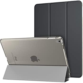 MoKo Case Fit iPad Pro 9.7 - Slim Lightweight Smart Shell Stand Cover with Translucent Frosted Back Protector Fit Apple iPad Pro 9.7 Inch 2016 Release Tablet, Space Gray (with Auto Wake/Sleep)