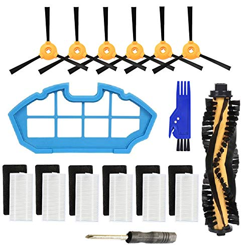 Replacement Parts for Ecovacs DEEBOT N79 N79S DN622 DN622.11 500 N79w N79se Robotic Vacuum Cleaner - Main Brush,Filter,Side Brush Accessory Kit