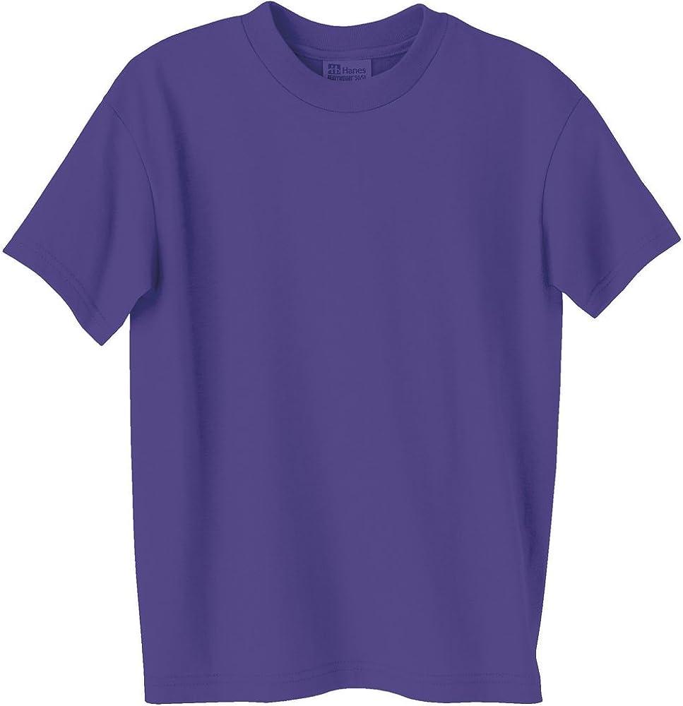 Youth Heavyweight Blend Tee, Purple, M