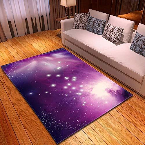 3D grote tapijtruimte Star Aarde ster op de aarde patroon Soft Luxury Rug voor kinderen woonkamer Kitchen non-lippen Floor matten, 4,150x200cm