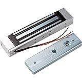 LIBO Cerradura magnética eléctrica 180KG/350lbs Control de acceso Cerradura electrónica de puerta de metal DC12V Fail...