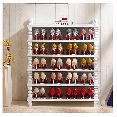 Zapatero Estante de zapatos de 6 niveles Organizador de zapatos grandes de zapatos Organizador de estantes de almacenamiento de zapatos de madera para el pasillo de la sala de estar de entrada Zapater