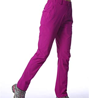 UV Protection Windproof Waterproof Pants Hiking Pants for Outdoor Sport Women's Purple Quick Dry Pants Cloth (Size : XXL)