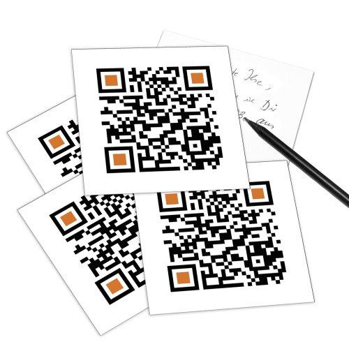 MERRY CHRISTMAS - 5er Set QR Code-Postkarte - mit Smartphone einscannen und Grußbotschaft erhalten