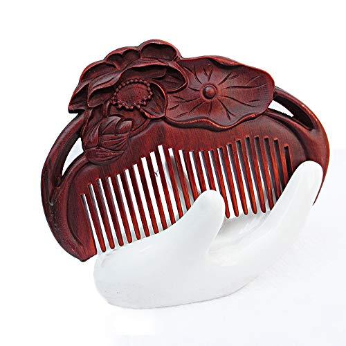 Natuurlijke palissander gesneden houten kam sturen vriendin naar klant Tand afdrukken gesneden geschenk rood sandelhout kam collectie rood sandelhout kam