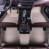 DBL Auto felpudos para A UDI A8 5 seats 2006 – 2010 impermeable antideslizante piel alfombras accesorios interiores Auto Alfombras Set Set Gris