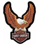 Patch thermocollant Biker Sportster 883 1200 de grande taille avec logo aigle Harley Davidson, 24x 34cm, couleur marron, pour blouson, gilet, veste