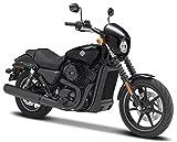2015 Harley Davidson Street 750 [Maisto 34360-34], Negro, 1:18 Die Cast