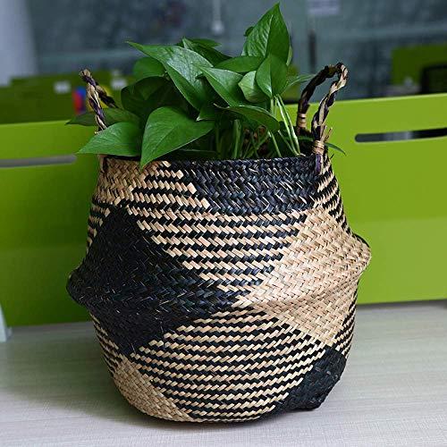 FYTVHVB Opbergmandje Bloem Pot Rotan Mand Plant Bloem Pot Speelgoed Rack Wasserij Mand Container Home Decoratie