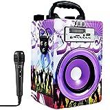 Music Life Altavoz Bluetooth Karaoke con microfono Altavoz Karaoke Bluetooth portatil USB Tarjeta TF Recargable con Radio FM