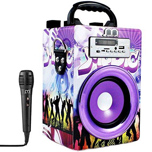 Music Life Altavoz Karaoke Bluetooth Portátil Inlámbrico