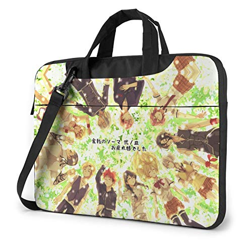 15.6 inch Laptop Sleeve Bag, Food Wars Tablet Briefcase Ultra Portable Protective Shoulder Shockproof Laptop Canvas Cover MacBook Pro
