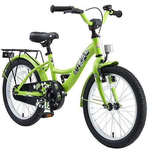 BIKESTAR Kinderfahrrad für Jungen ab 5 Jahre | 18 Zoll Kinderrad Classic | Fahrrad für Kinder Grün | Risikofrei Testen