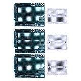 Shiwaki 3X Proto Shield Prototype Expansion Board con Mini Breadboard per Arduino