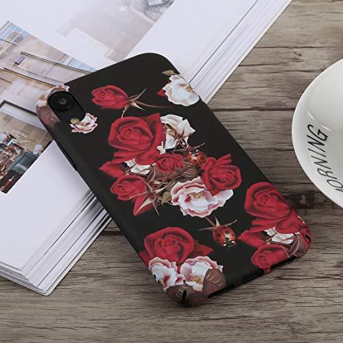 CHANYO Caso para el iPhone Teléfono XR Caja Protectora de la PC Caja del teléfono móvil del patrón Luminoso Rose for el iPhone XR