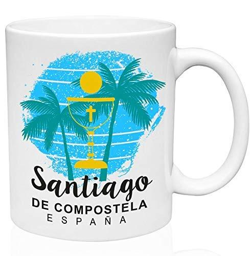 Eastlif Taza de café de cerámica Santiago De Compostela España 11oz