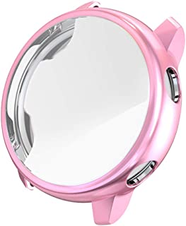 Compatible with for Samsung Active Watch,Tonsee 1PCS Ultra-Slim Electroplate Transparent TPU Case Cover,Durable Protection for Inteligent Watch