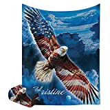 XOZOTY American Flag Eagle Baby Blanket with Name Text Custom Personalized Newborns Infants swaddling Blankets for Boys &Girls Shower Birthday Gift 30 X 40 inches