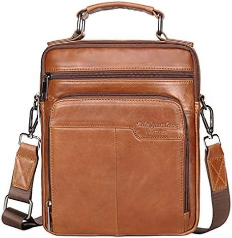 Leather Business Messenger Bag Shoulder Handbag for Men Travel Outdoor Crossbody Handbags Briefcase product image