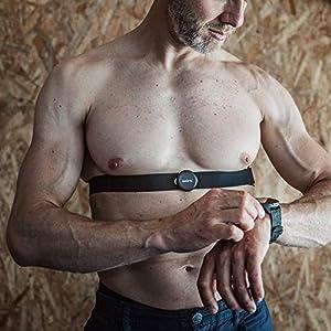SUUNTO Smart Heart Rate Sensor Belt - Bluetooth, Waterproof Chest Strap HR Sensor, New Version, Black
