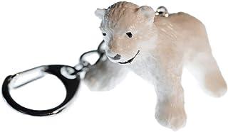 Miniblings Eisbär Schlüsselanhänger Bär Kind Baby Weiß - Handmade Modeschmuck I I Anhänger Schlüsselring Schlüsselband Key...