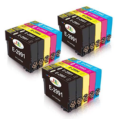 EBY 15 Packs Compatibel 29XL inktcartridges Compatibel met XP342 XP432 XP335 XP-235 XP-245 XP442 XP-435 XP247 XP332 XP345 XP445 XP455 (6 zwart, 3 cyaan, 3 Magenta, 3 geel)