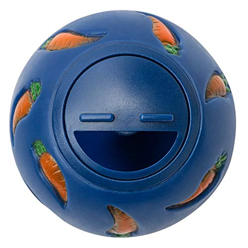Niteangel Treat Ball, Snack Ball for Small Animals (Small, Blue)